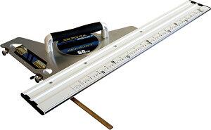 丸ノコガイド定規 エルアングル アジャスト 60cm併用目盛 角度調整付 H762×W350×D75mm 1200g