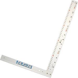 丸ノコガイド定規 エルアングル50cm 併用目盛 取手なし H500×W330×D20mm 560g