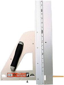 丸ノコガイド定規 エルアングル 45cm 併用目盛 補助板付 H580×W335×D70mm 1360g