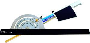 丸ノコガイド定規 フリーアングル マルチ アルミガイド30cm付 H455×W390×D23mm 750g