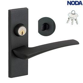 NODA(ノダ) ハンドル・座セット [ブラック/簡易鍵付き錠]【MP-D1614BT】 ビノイエ 内装ドア 取手 レバーハンドル 部材