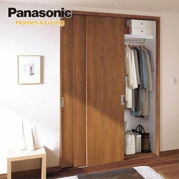 Panasonic(パナソニック) 収納用建具 3枚連動引き戸PA型(フラットタイプ)<スタンダード仕様> 固定枠〔4方枠/直付下レール3方枠〕クローゼットドア ベリティス