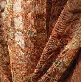 インドネシア 手染めコットンストール 紋織り 茶系 プレゼント アジアン ポンチョ エスニック コットン メンズ レディース ネコポスOK