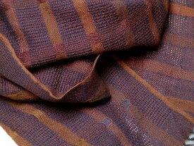 インド ストライプ柄ウールストール(マフラー、スカーフ) オレンジ ブラウン ブルー系 プレゼント アジアン エスニック ポンチョ メンズ レディース 税込3,980円で送料無料! ネコポスOK