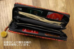 タイ民族刺繍ウォレット長財布