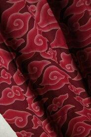 インドネシア 手描きバティックカイン パンジャン(腰布) メガムンドゥン(雲) 飾り布 赤/茶 【ろうけつ染め】【更紗】【アジアン】【プレゼント】【YDKG-f】【エスニック】【ナチュラル インテリア】【コットン(綿)】