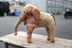 インド象縫いぐるみ置物