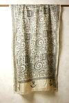 インドウエストベンガル州の手刺繍シルクドゥパタ大判ストール