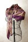 インドプリントシルク正方形スカーフ