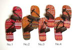 タイモン族手刺繍ぺたんこサンダル