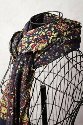 インド更紗アジラック草木染めコットンスカーフ