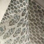 インドカラムカリプリント(木版染め)シルクコットンストール