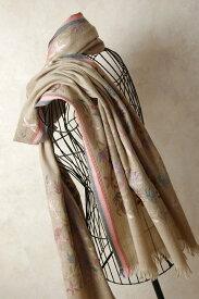 インド ステッチ刺繍ウールストール 植物 マフラー、ショール、スカーフ 【送料無料!】【レディース】【アジアン】【プレゼント】【ポンチョ】【YDKG-f】【エスニック】+A+H