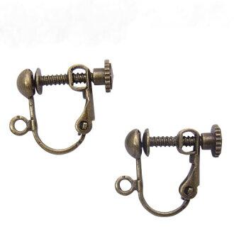 2对基础金属零件耳环螺丝发条球胸罩(4个装)