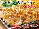[餃子の王国]【送料無料】お徳用 工場直売生餃子 6セット(24個×12パック)288個入り!