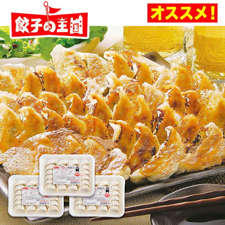 【送料込】工場直売生餃子 72個!(24個×3パック)国産野菜に、九州産豚肉100%使用し熊本の自社工場で製造(安心素材で、パリパリ焼ける餃子です!)[餃子の王国]