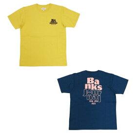 BANKS バンクス HOURLY TEE [2色](半袖 Tシャツ メンズ レディース ユニセックス サーフ系 サーフィン オーガニックコットン ネイビー イエロー 黄色 カットソー) 【ネコポス】