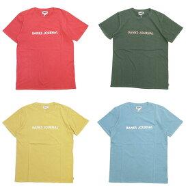 BANKS バンクス LABEL TEE [4色](半袖 Tシャツ メンズ レディース ユニセックス メンズ サーフ系 サーフィン オーガニックコットン 白 ホワイト クルーネック カットソー レッド 赤 イエロー 黄色 グリーン 緑 ブルー 青 ) 【ネコポス対象】