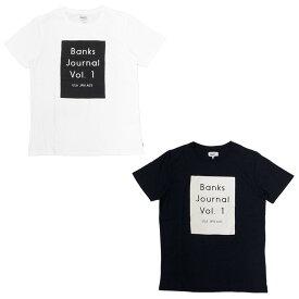 BANKS バンクス LOVCKED TEE [2色](半袖 Tシャツ メンズ レディース ユニセックス サーフ系 サーフィン オーガニックコットン オフホワイト 白 ブラック 黒 カットソー ) 【ネコポス対象】