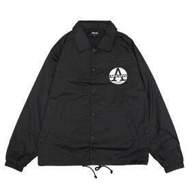 AFENDS アフェンズ REGISTER COACH JACKET [BLACK](サーフ系 サーフィン コーチジャケット ウィンドブレーカー アウター メンズ ブラック 黒 )【送料無料】