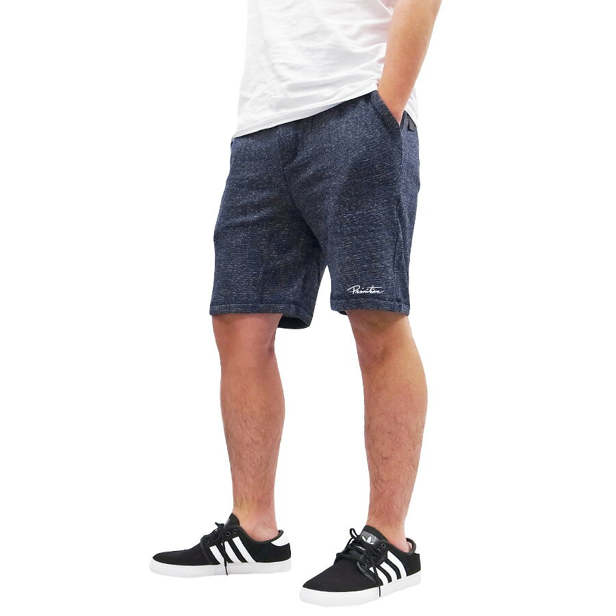 PRIMITIVE プリミティブ FLEECE SHORT PANT [MIDNIGHT](パンツ ショートパンツ スウェット ストリート スケート メンズ ネイビー ) 【送料無料】