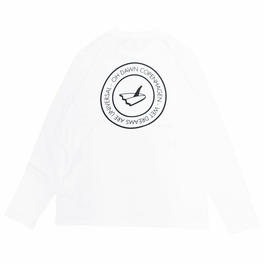 OH×DAWN オードーン LOCAL L/S TEE [OPTICAL WHITE](メンズ 長袖Tシャツ ロングスリーブ カットソー サーフ サーフィン シンプル スケート オーガニックコットン ホワイト 白 )【ネコポス対象】