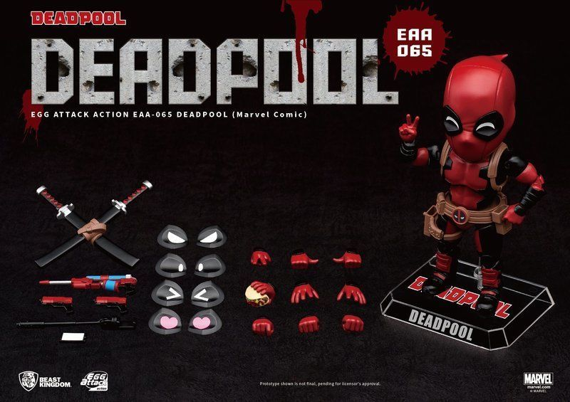 "EGG ATTACK ACTION EAA-065 DEADPOOL MARVEL COMIC VER. 6"" FIGURE"