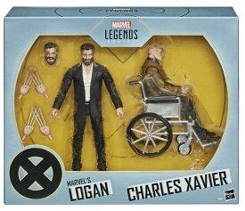 (現在庫あり)マーベル レジェンズシリーズ6インチX-MENマーベルのローガン&チャールズザビエル図2パック