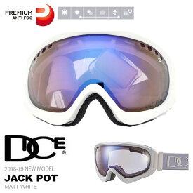 送料無料 スノーゴーグル DICE ダイス JACK POT ジャックポット プレミアムアンチフォグ 日本正規品 ユニセックス スノボ スノー ゴーグル 球面レンズ 20%off