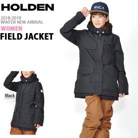 送料無料 スノーボードウェア HOLDEN ホールデン WS M-65 FIELD JACKET フィールド ジャケット レディース ブラック BLACK ジャケット スノボ スノーボード スノーウェア ガール 18/19 得割20