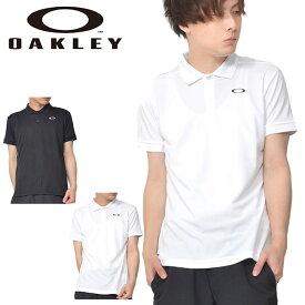 36%off 半袖 ポロシャツ OAKLEY オークリー メンズ 鹿の子 ロゴ ワンポイント ゴルフ テニス ランニング トレーニング ジム ウェア 日本正規品