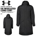 送料無料 ベンチコート アンダーアーマー UNDER ARMOUR UA INSULATED LONG COAT メンズ ロングコート ジャケット 防寒…
