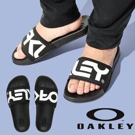 サンダル OAKLEY オークリー メンズ B1B SLIDE スライド ロゴ ビーチサンダル スポーツサンダル シャワーサンダル サンダル スポーツ ジム トレーニング プール 海水浴 ブラック 黒 FOF100095 得割20