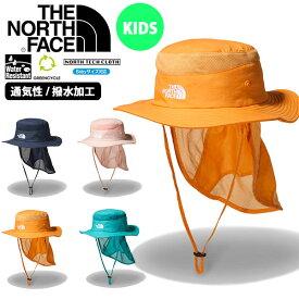 送料無料 UVカット ハット THE NORTH FACE ザ・ノースフェイス Kids Sunshield Hat キッズ サンシールド ハット 帽子 2020春夏新作 子供 撥水 紫外線 日差し防止 サンシェード nnj02007