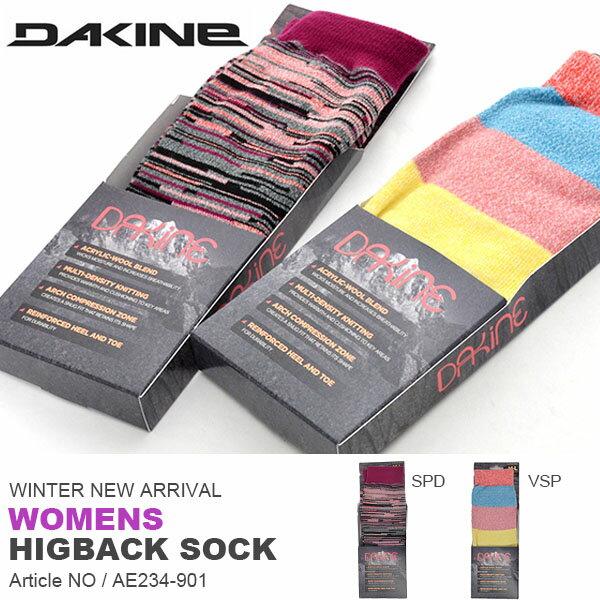 スノーボードソックス DAKINE ダカイン レディース WOMENS HIGBACK SOCK ボーダー 靴下 ハイソックス ロングソックス ソックス スノーボード スノボ スキー スノー 日本正規品 25%off
