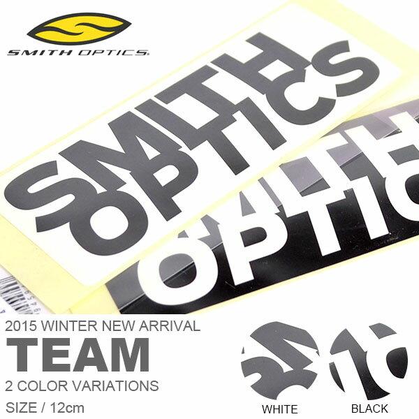 ネコポス配送可能!ロゴステッカー SMITH OPTICS スミス 12cm TEAM ロゴ シール ステッカー スノーボード スケボー 車 バイク スーツケース 2014-2015冬新作