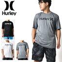 半袖ラッシュガード HURLEY ハーレー メンズ DRI-FIT WET DRY ONE&ONLY SURF TEE O&O ロゴ UVカット ラッシュTシャツ …