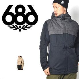 送料無料 スノーボードウェア 686 SIX EIGHT SIX シックスエイトシックス Authentic Moniker Jacket メンズ ジャケット スノボ スノーボード スノーウェア 得割35