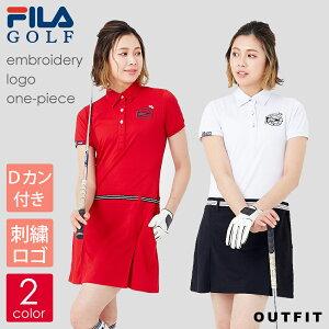 ゴルフウェア 半袖 ワンピース レディース FILA GOLF フィラゴルフ プリーツスカート 可愛い おしゃれ ブランド 春 大きいサイズ スポーツ トレーニング ギフト outfit