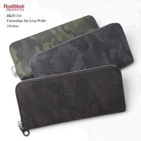 d12cebd1396134 HealthKnit ヘルスニット レザー カモフラージュ ZIP 長財布 カモ柄/ジッパー/ファスナー/メンズ
