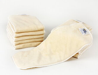 BornBaby bamboo diaper liner (bamboo cloth diaper liner four folds structure three pieces set)