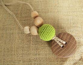 歯固め 木製 ナージングネックレス グリーン 授乳ネックレス 歯固めアクセサリー outfit プレゼント