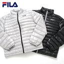 【20%OFFセール】 FILA フィラ ダウンジャケット レディース メンズ ブランド ダウンコート ライトダウン 軽い 軽量 持ち運び 携帯 収納ポーチ付き outfit