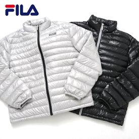 FILA フィラ ダウンジャケット ライトダウン レディース メンズ ブランド ダウンコート ライト 軽い 軽量 持ち運び 携帯 収納ポーチ