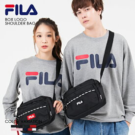 FILA ボックス ロゴ ショルダー バッグ フィラ ショルダーバッグ メンズ レディース 斜めがけ 軽い ブランド おしゃれ かわいい 小さめ 人気 カジュアル 刺繍 ロゴ メッシュ 黒