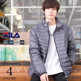 FILA フィラ ダウンジャケット ライトダウン レディース メンズ ブランド ダウンコート ライト 軽い 軽量 持ち運び 携帯 収納ポーチ プレゼント outfit