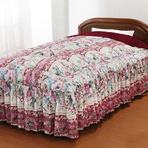 nice SLEEP ナイススリープ ベッド布団 ベッドカバー 掛布団 毛布 あったか 中綿入り 3層構造 ボリュームマイヤー毛布地 ベッド用 布団 フリル付き セミダブル