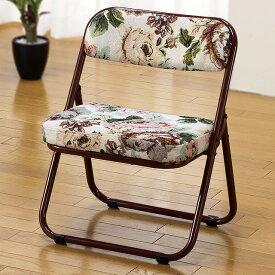 折りたたみ座椅子 ローチェアー 完成品 座面低め 正座が出来ない人用 和室 居間 玄関 仏間 集会 法要 釣り 観戦 軽くて折りたためるパイプ椅子 1脚