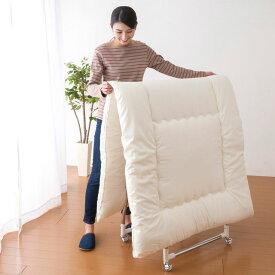 タテヨコ伸縮 軽量 物干しスタンド 布団干し 室内 物干し スタンド スムーズハンガーラック 耐荷重量20kgストロング仕様 キャスター付き