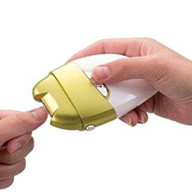 電動爪削り&角質ケアローラー Leaf DX 電動 電動爪やすり 電動ヤスリ 電池式